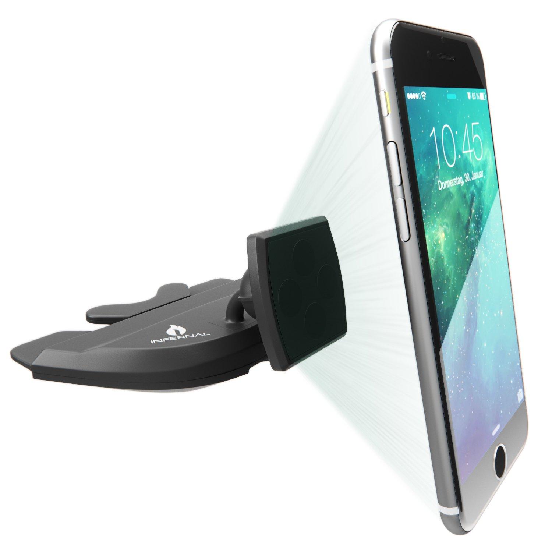 Infernal Innovations® Montura magnética para coche con ranura para CD | sujetador iPhone 6 para coche | soporte magnético universal de celular para coche ...