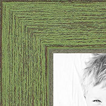ArtToFrames 22x30 inch Jade Rustic Barnwood Wood Picture Frame, 2WOM0066-1343-YGRN-22x30