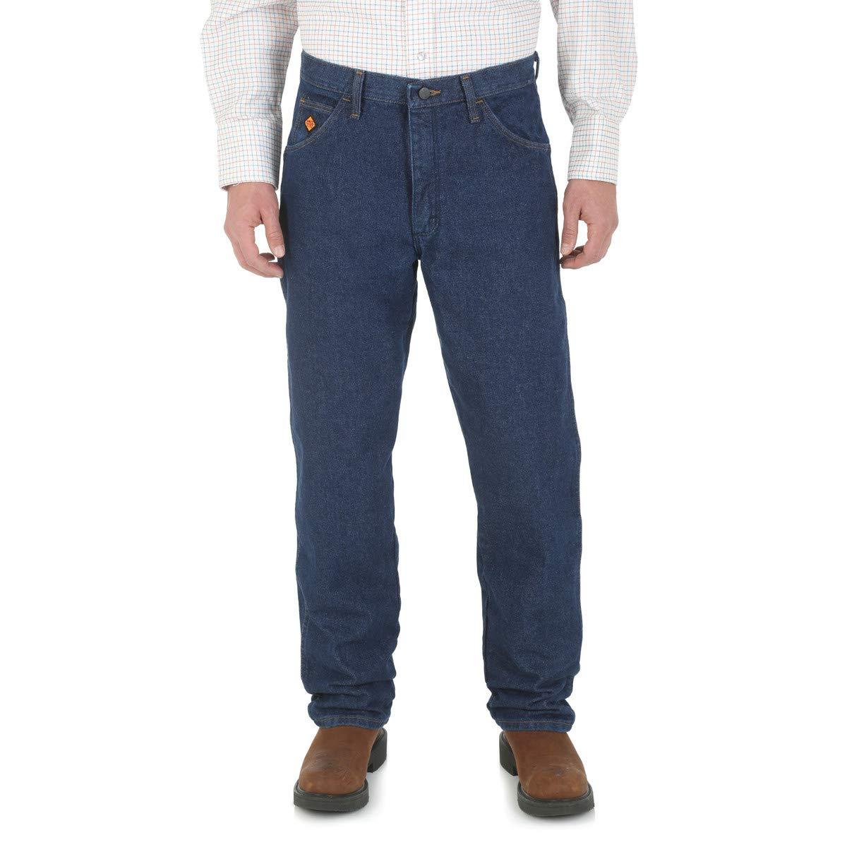 Wrangler FR 33 X 36 Prewash Denim Cotton Heavy Weight Flame Resistant Jeans With Zipper Front Closure