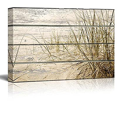 Creekside View of Ammophilia and Calming Waters - Canvas Art