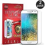 Galaxy E5 Screen Protector, GlassWorx 2-Pack Tempered Glass Screen Protector Film for Samsung Galaxy E5