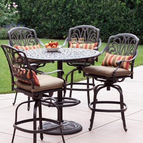 High Quality Amazon.com : Elisabeth 4 Person Cast Aluminum Patio Bar Set   Antique  Bronze : Outdoor And Patio Furniture Sets : Patio, Lawn U0026 Garden