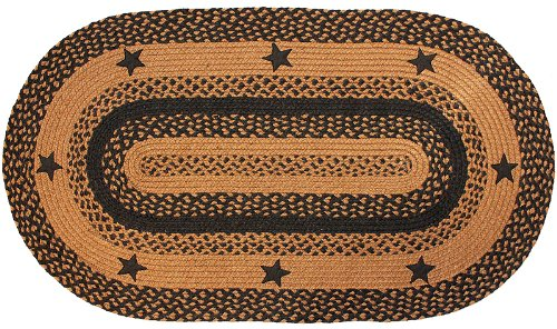 Superb Amazon.com: Braided Barn Star Rug, Black | Oval Area Rug, Country Decor  Primitive Star Rug (3u0027x5u0027): Kitchen U0026 Dining