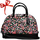 SALE ! New Authentic COACH Pink Multicolor Floral Sierra Dome Satchel Convertible Shoulder bag