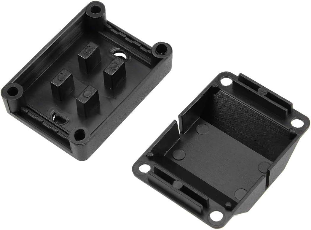 uxcell 10pcs 48x34x24mm Electronic Plastic DIY Junction Box Power Protection Box Enclosure Case Black