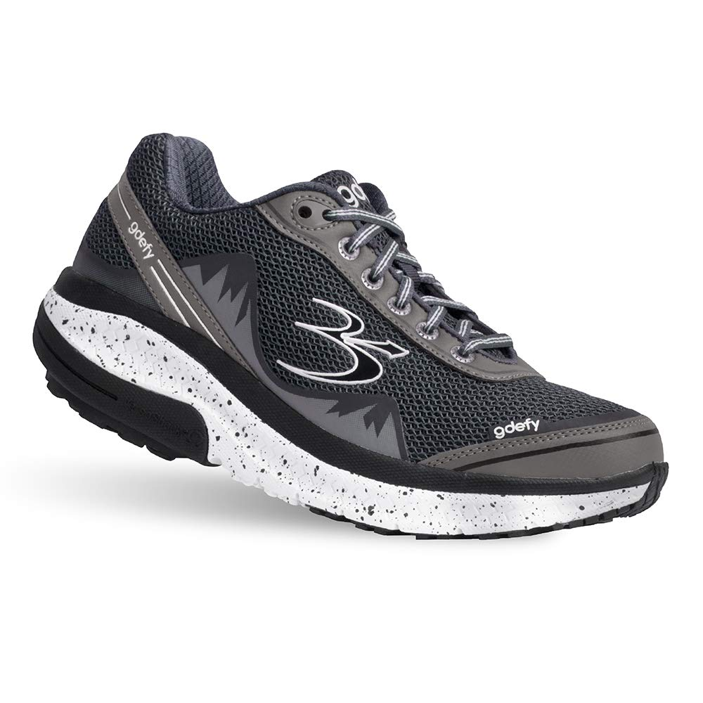 Gravity Defyer Proven Pain Relief Women's G-Defy Mighty Walk Gray Athletic Shoes 6 M US - Best Shoes for Heel Pain, Foot Pain and Plantar Fasciitis