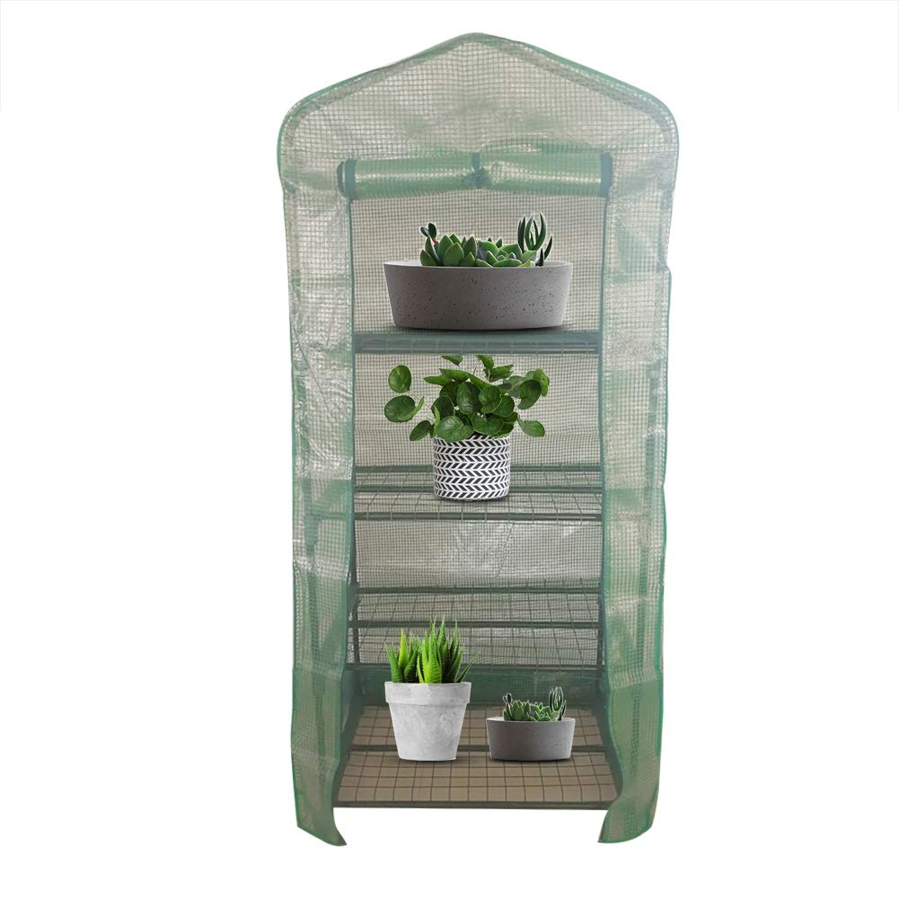 143 * 73 * 195cm 2 Sizes Greenhouse Cover Plastic Portable Garden Greenhouse Warm Greenhouse for Flower Plants Asixx Mini Greenhouse