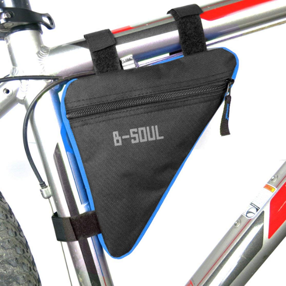 LouiseEvel215 Waterproof Triangle Cycling Bicycle Bags Front Tube Frame Bag Bike Holder Saddle Pouch Handlebar Bike Accessories