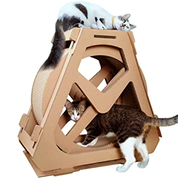 Amazon.com: Creation Core - Rascador para gatos con forma de ...