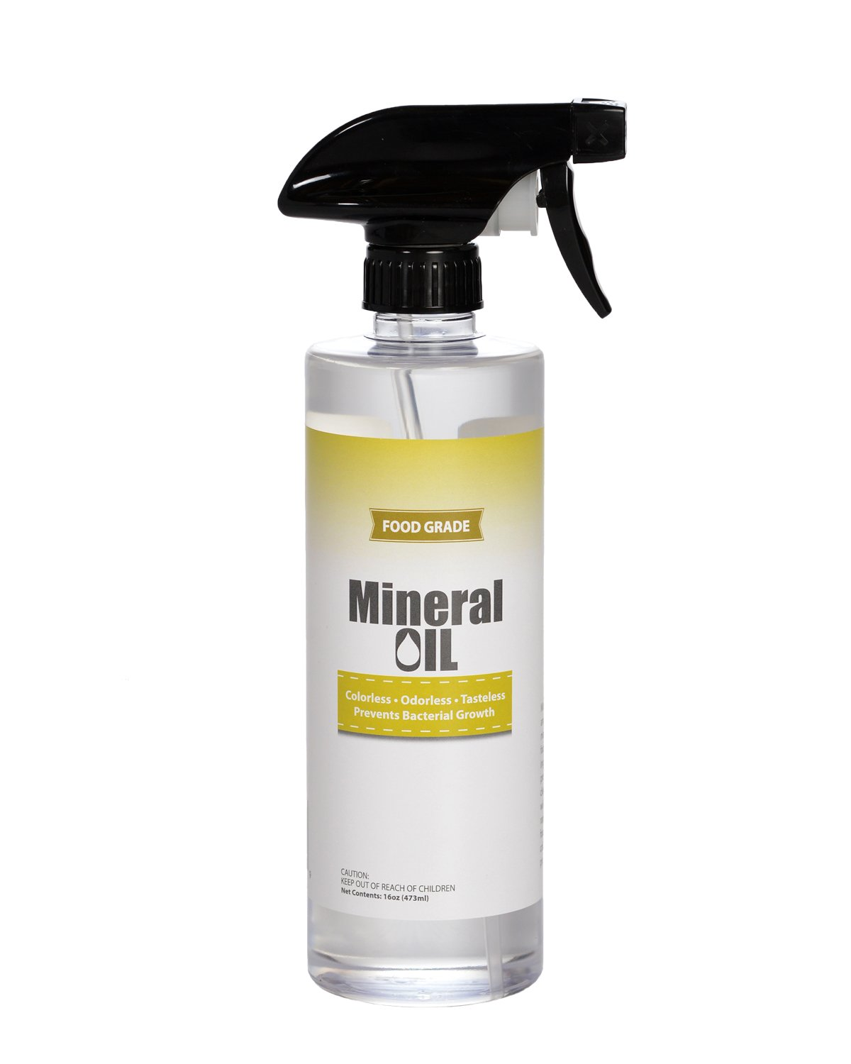 Premium 100% Pure Food Grade Mineral Oil USP, 16oz Spray Bottle, NSF Approved, Butcher Block and Cutting Board Oil