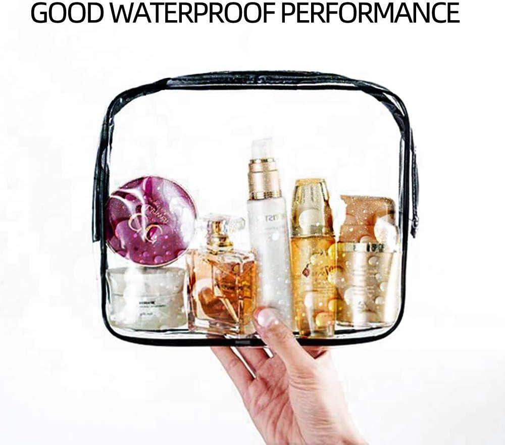 3pcs Sacs de Maquillage PVC Imperm/éables Sac Organisateur Cosm/étique Transparente Sac de Toilette Clair Sac de Voyage /étanche Trousse de Toilette Transparente