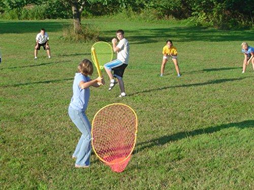 Xtra Fielder The Backyard Baseball Game(4 Net Set) with Pro Strike Zone and Wiffle Ball and Bat, Beach, Lawn, Game Set