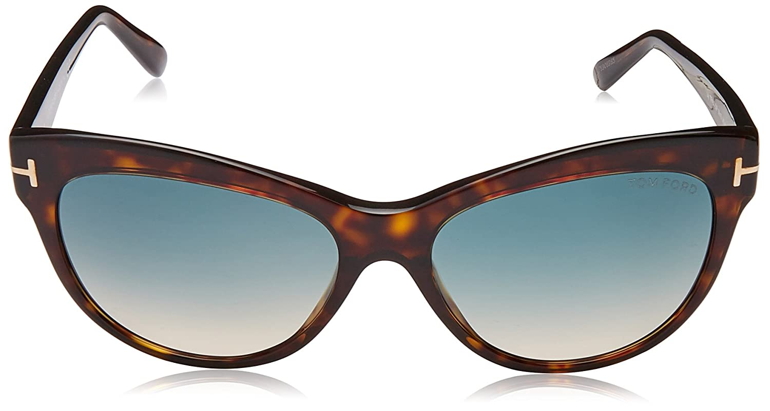 2d8164f75d315 TOM FORD Women s Lily TF430 56F Havana Brown Cat eye Sunglasses 56mm at Amazon  Women s Clothing store