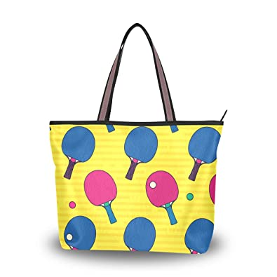 c8f55c1aaa0e6 Amazon.com: My Daily Women Tote Shoulder Bag Pop Colorful Table ...