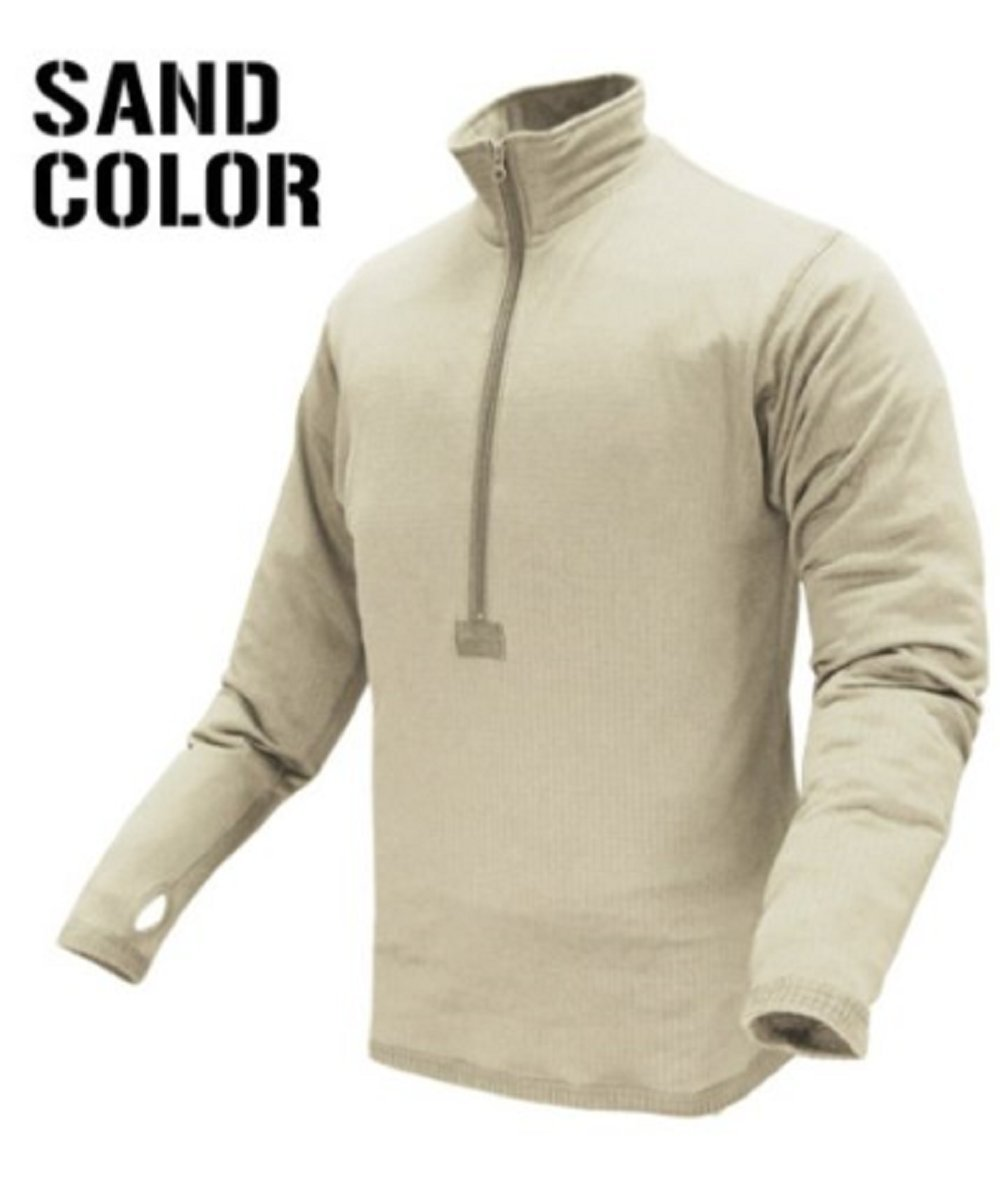 CONDOR 603-004-M BASE II Zip Pullover Coyote Sand M 603-Sand-Med