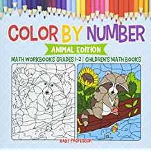 Color by Number : Animal Edition - Math Workbooks Grades 1-2 | Children's Math Books