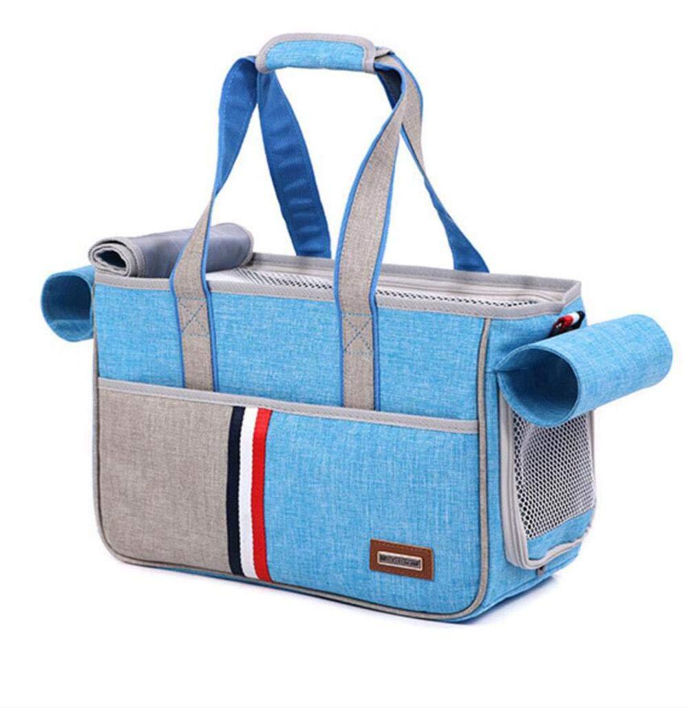 blueE-S CHWTLB Pet Dog Cat Portable Travel Carrier Tote Bag Crates Shoulder Bag Handbag Easy Carry Pet Bag