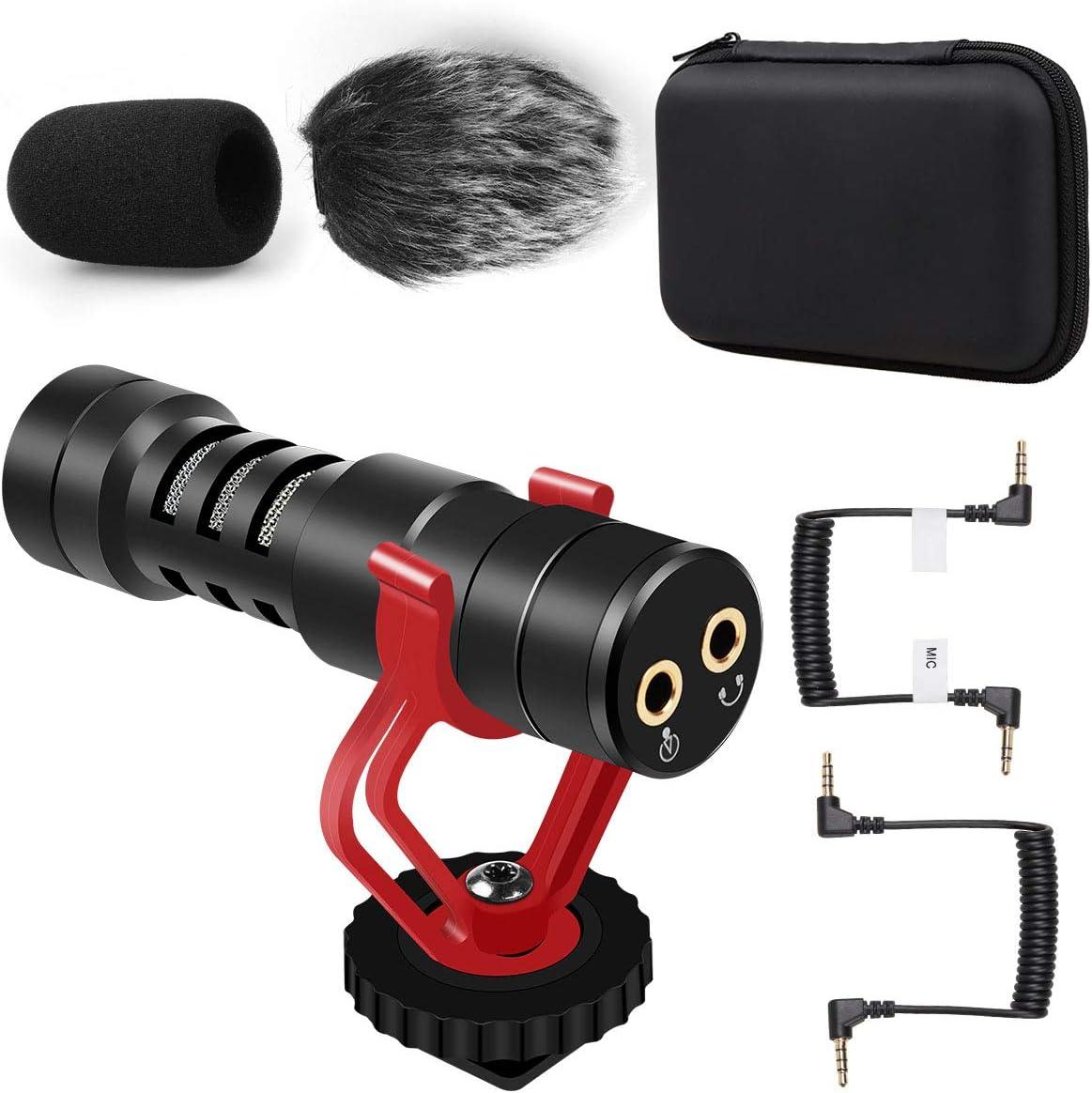 Tikysky Camera Microphone M-3,External Video Microphone for Phone ...