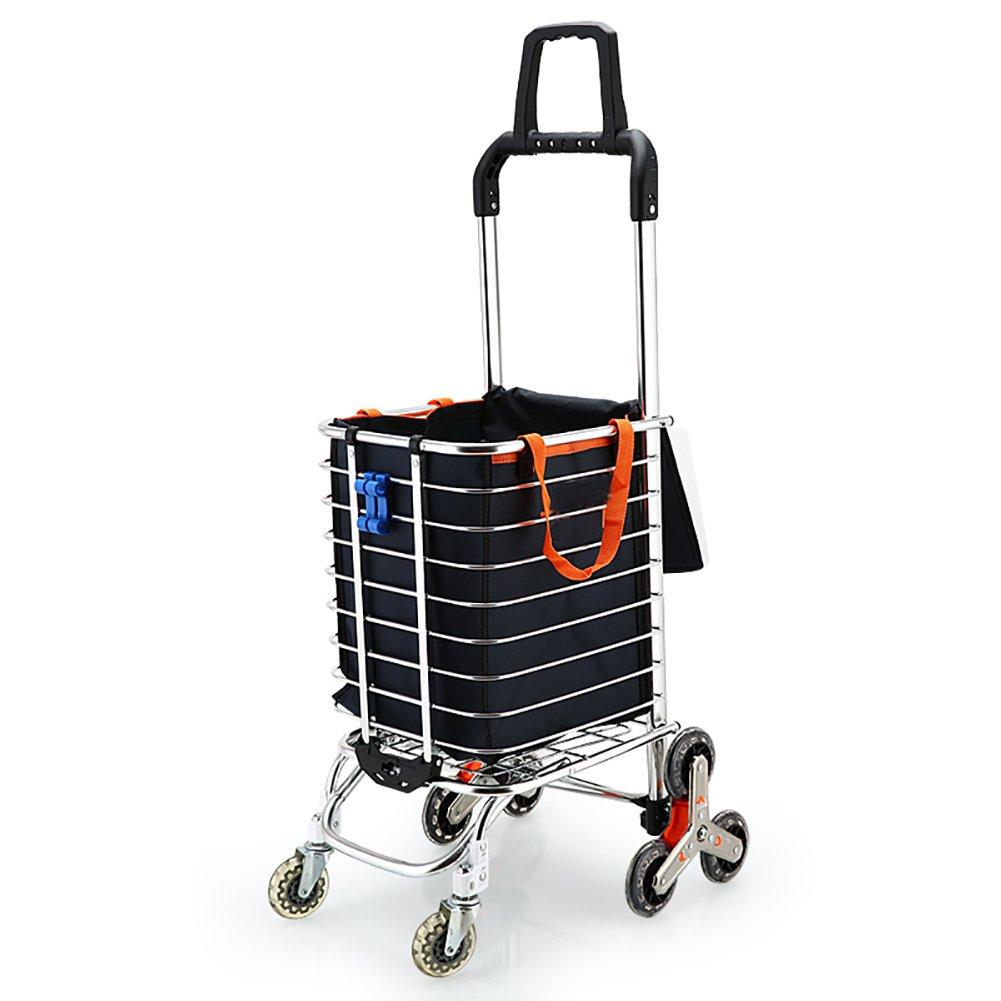 LUJIAN ショッピングカートスモールカート、階段を登る便利なハンドカート、引き出しバレル水アルミニウム材質 LUJIAN (色 : 2)  2 B07LFBN5GF