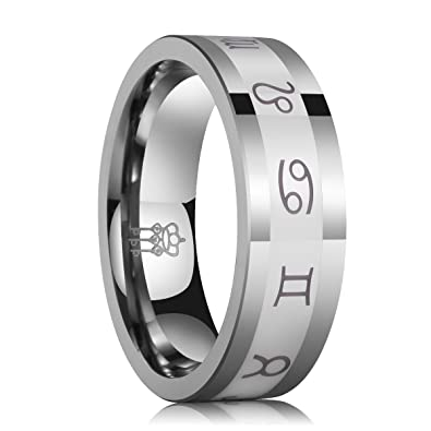 three keys jewelry 8mm carbide tungsten ring inlay white ceramic wedding engagement band silver plat polished
