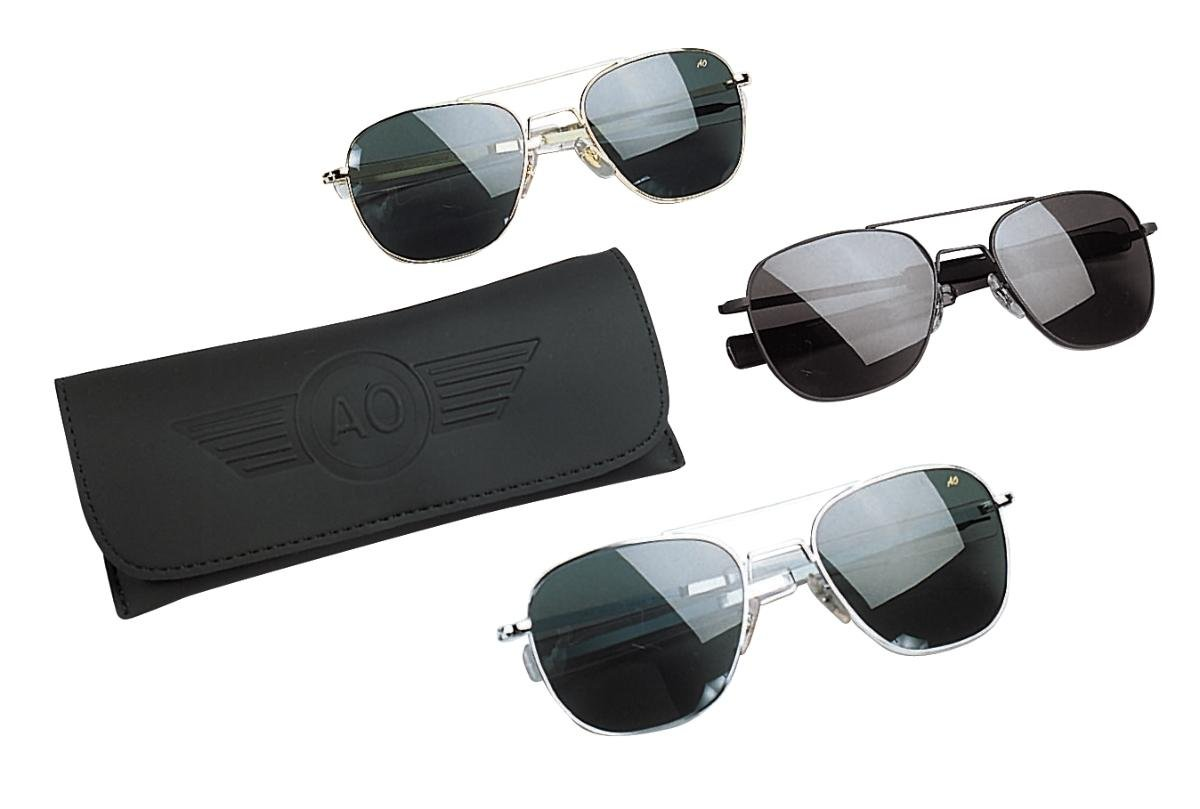 American Optical Original Pilot Bayonet 57 Matte Chrome TC Grey Sunglasses  30138  Amazon.co.uk  Sports   Outdoors 85cf1848ce