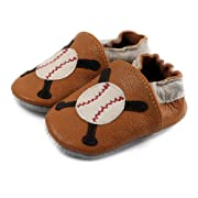 Amurleopard Baby Leather Shoes Toddler Prewalker Baseball 0-6 Months