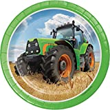 Tractor Time Dessert Plates, 24 ct