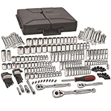 GearWrench 80933 216 Piece 1/4-Inch, 3/8-Inch, and 1/2-Inch Drive 6 and 12 Point SAE/Metric Mechanics Tool Set