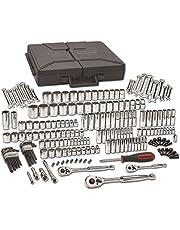 GearWrench 80933 216 piezas, Juego de herramientas para mecánica con guías de 0.6 cm, 1 cm y 1.2 cm, 6 y 12 puntos, SAE / métrico