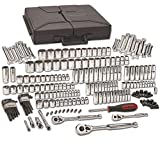 GearWrench 80933 216 Piece 1/4'', 3/8'', and 1/2'' Drive 6 and 12 Point SAE/Metric Mechanics Tool Set