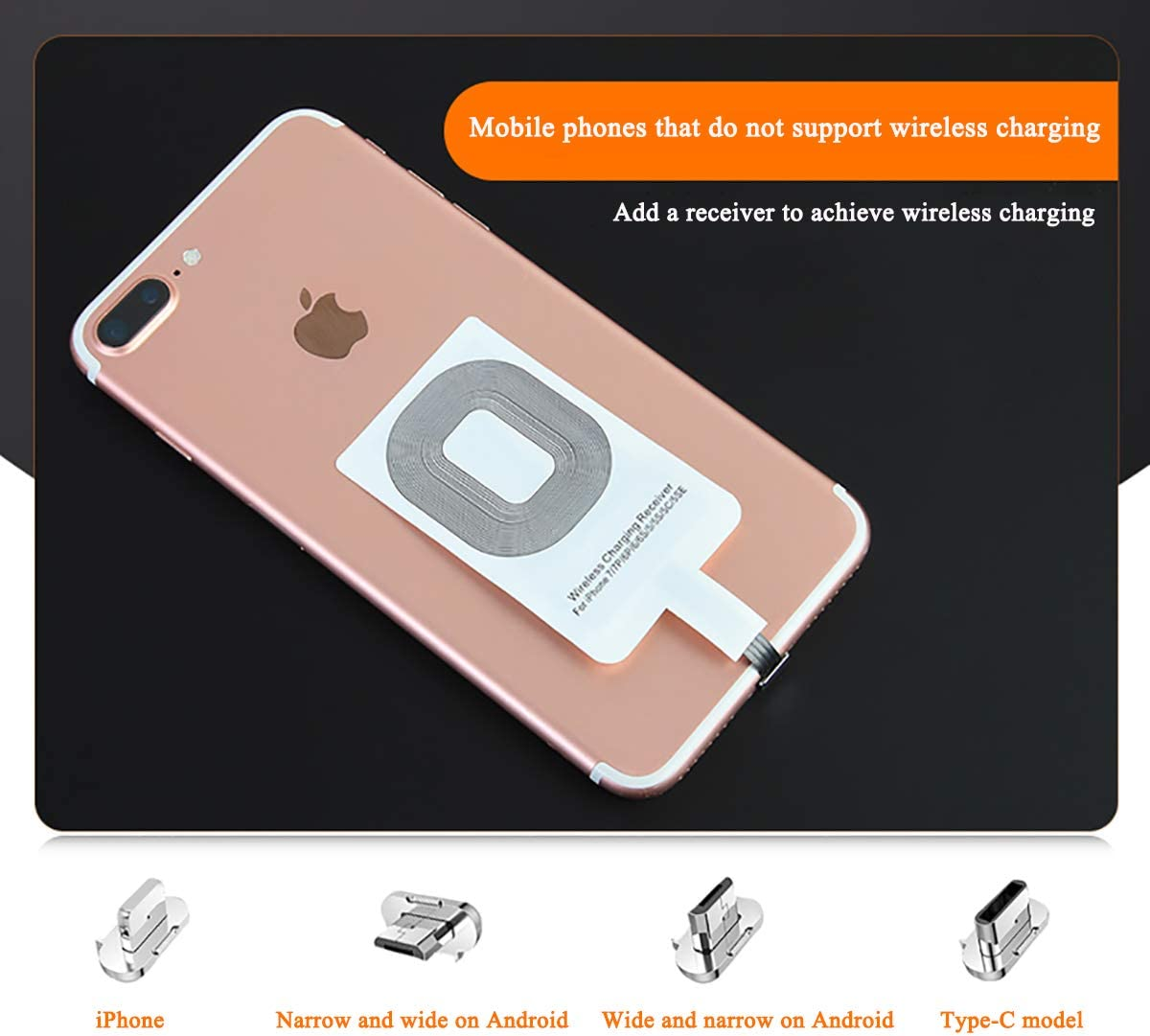 HMHD Caricabatteria per Auto Wireless Magnetico Supporto del Telefono Veicolare 10w Quick Charge per iPhone XR//XS Max//Xs//X//8//8 Plus Gold