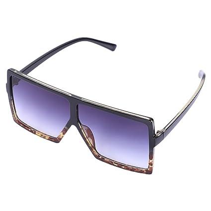 61b0bf8197 TOOGOO Gafas de sol unisex unicas Gafas de sol cuadradas integradas Anteojos  de montura grande Gafas