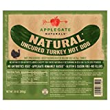 Applegate Naturals Uncured Turkey Hot Dog, 10 Ounce (Pack of 12)