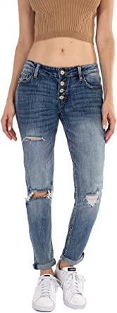 Salt Tree Kan Can Usa Women S Dark Wash Five Pocket Button Fly Mid Rise Denim Kc5118 At Amazon Women S Jeans Store