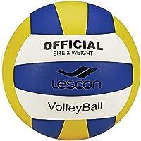 Lescon La-2577 Voleybol Topu, Unisex, Sarı/Lacivert, 4 Numara
