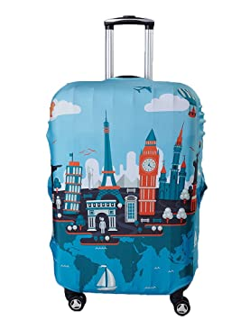 Myosotis510 Travel Around the World Protector de equipaje Funda para maletas: Amazon.es: Deportes y aire libre