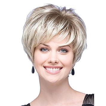 Stufenschnitt blond kurz