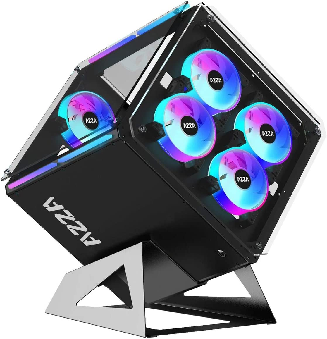 AZZA CSAZ-802F Cube CASE w/DRGB Lighting and Tempered Glass,black