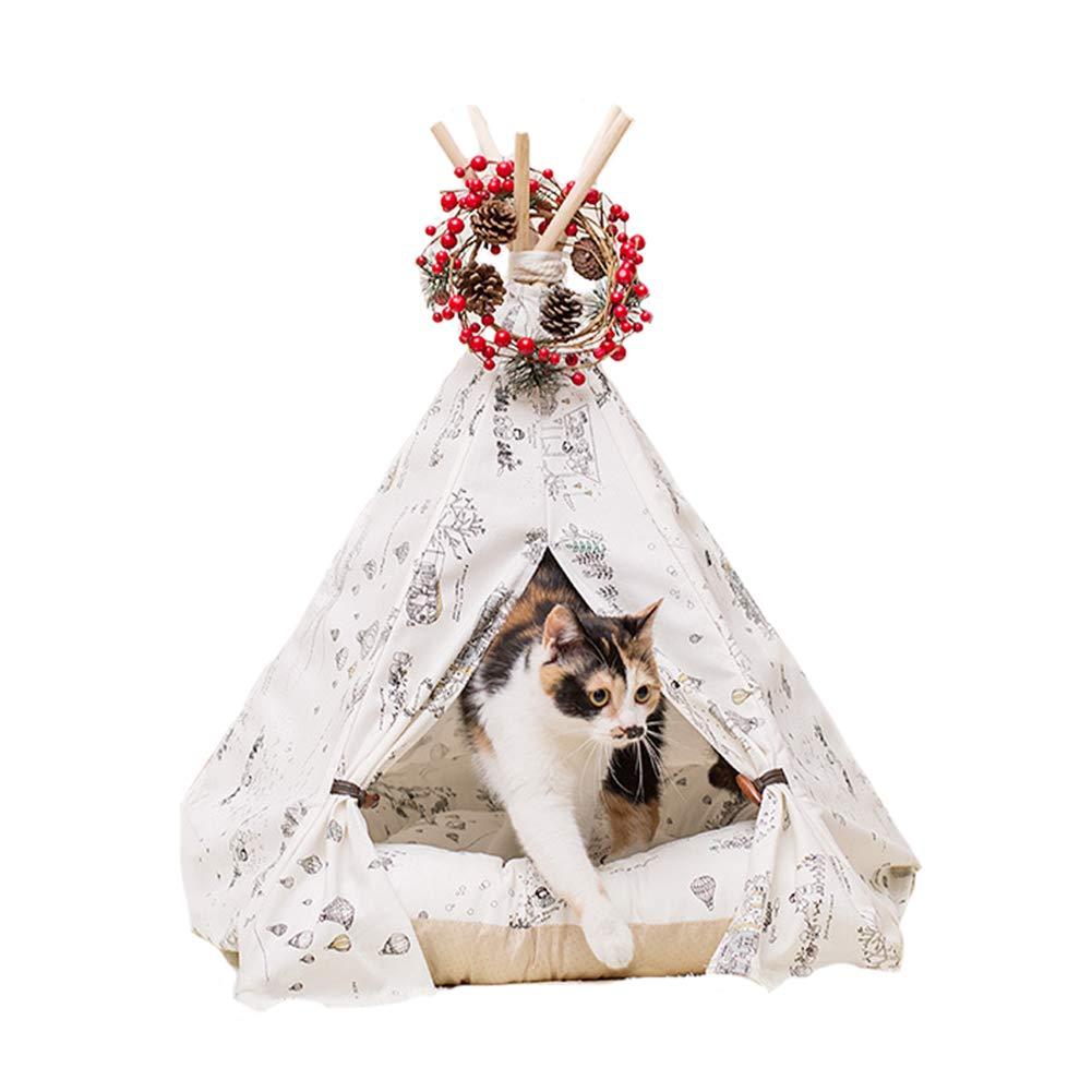 ed65c6614f Pet Pet Pet Teepee, Design in cotone 100% modelli dipinti a mano Per Cane  Pieghevole Lavabile Tenda (tappetini non inclusi) Cat Dog Bed,M 504c58