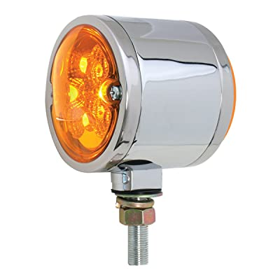 Grand General 78550 Amber Double Faced 16 LED Light with Chrome Die Cast Housing and Amber Lens: Automotive