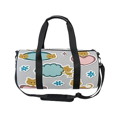 e93335aa0def Evolutions Cute Cat Kitty Travel Duffel Bag Sports Gym Bag For Men   Women