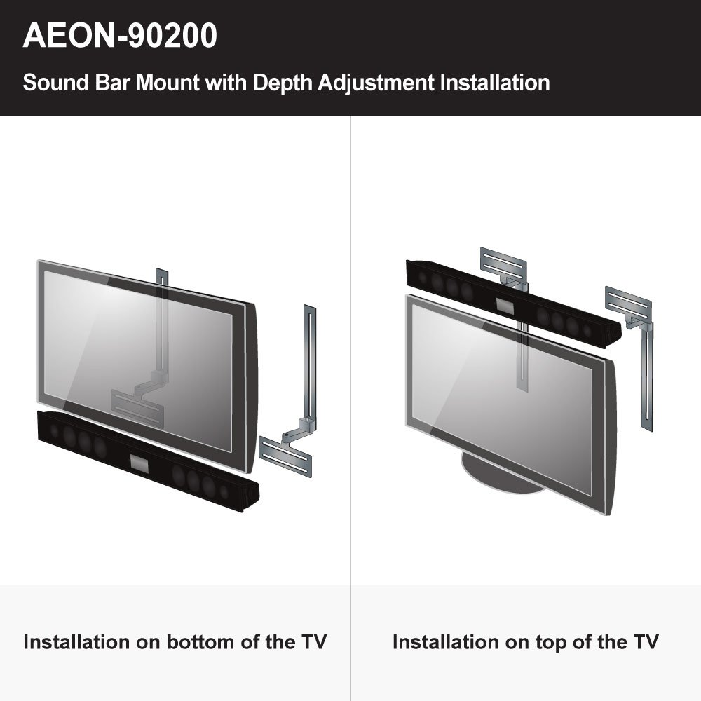 Delicieux Amazon.com: Soundbar Speaker Mount With Depth Adjustments For TV Wall Mount  Brackets: Cell Phones U0026 Accessories