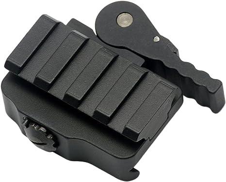 1x Aluminum QR QD Block Rifle Gun Base Mount 20mm Picatinny Weaver Rail Adapter