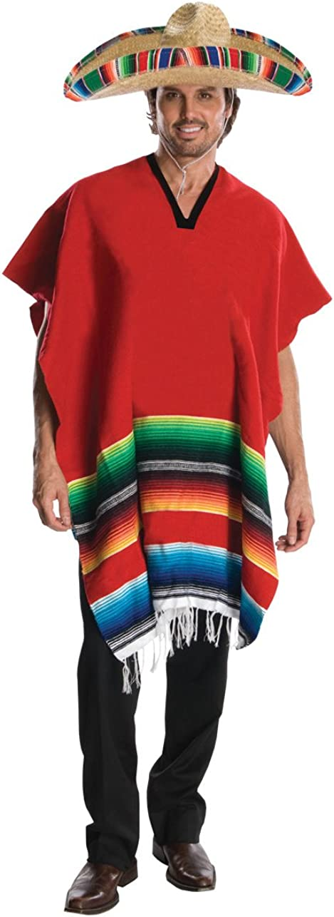 Rubies Costume Heroes and Hombres Adult Hombre Costume Poncho and Sombrero