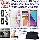"~ for 5"" Samsung Galaxy Amp Prime 2 / Express Prime 2 ~ Not for [ Amp Prime / Express Prime ] ~ Made of flexible PU leatherette for great durability ~ Flap covers screen when phone placed in purse ~ Folding kickstand for viewing convenience ~ Buil..."