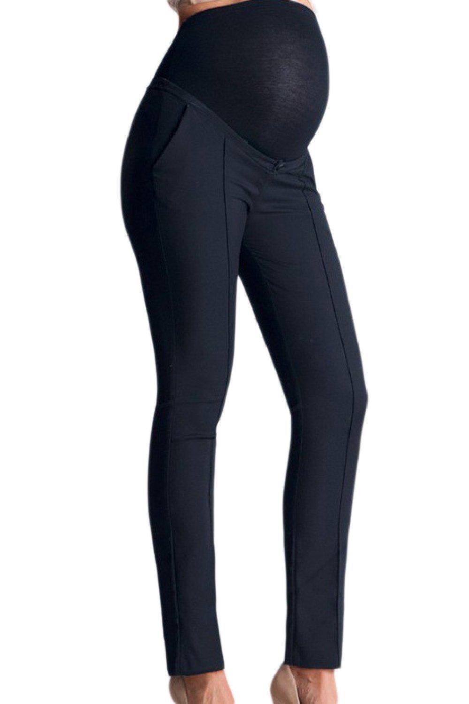 Fanvans Womens Maternity Dress Pants Bootcut Office Trousers Navy M
