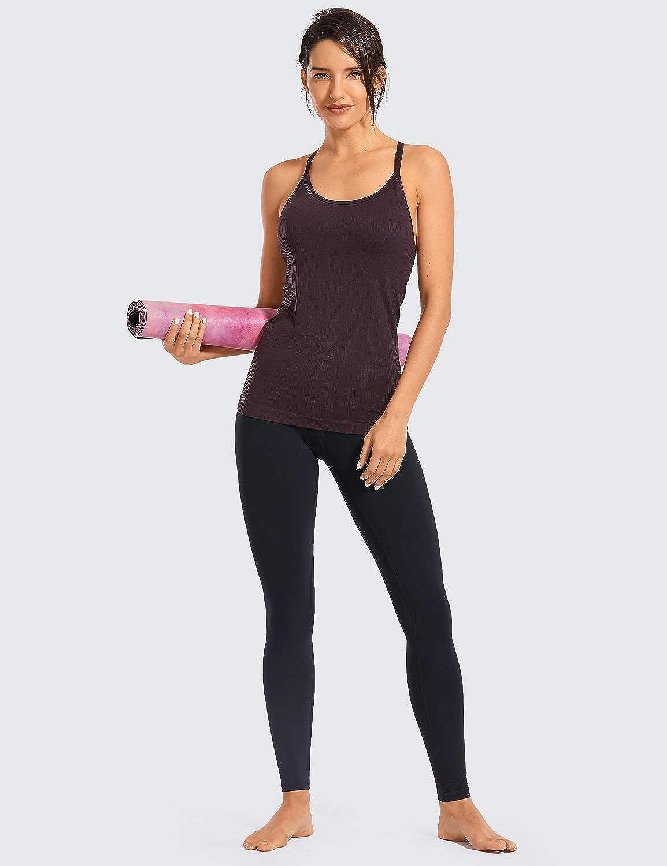 CRZ YOGA Damen Nackte Empfindung Hohe Taille Joggen Yoga Leggings mit Tasche-71cm