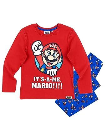 9c43cd33c Mario Bros - Pijama dos piezas - para niño rojo azul 4 años   Amazon.es   Ropa y accesorios