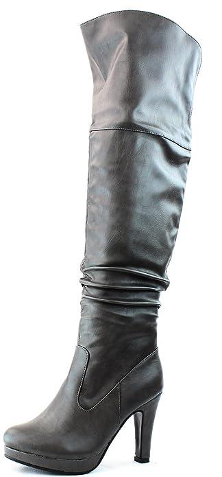 Amazon.com | Women's Knee High Foldable Fashion Boots | Knee-High