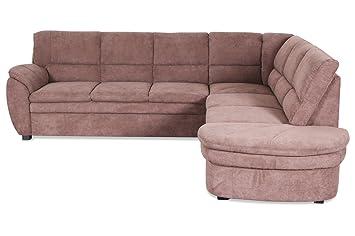Sofa Couch Rundecke Ginger Braun Amazon De Kuche Haushalt